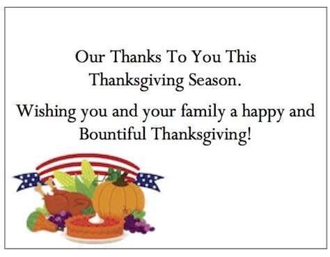 business thanksgiving cards  appreciation