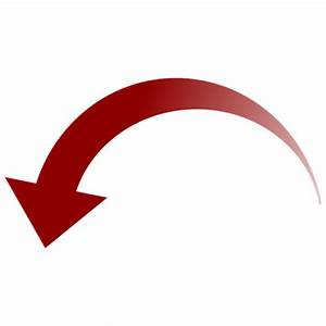 Curved Red Down Arrow transparent PNG - StickPNG