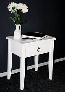 Beistelltisch Weiß Mit Schublade : massivholz nachttisch nachtkommode beistelltisch nachtschrank wei ~ Bigdaddyawards.com Haus und Dekorationen