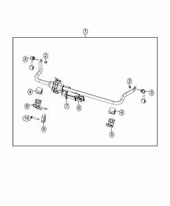2016 Jeep Wrangler Stabilizer Bar  Front  Electronic  Sway