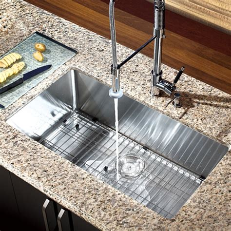 """30"""" X 16"""" Single Bowl Stainless Steel Hand Made Undermount"""