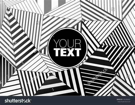 black and white graphic design background black white striped triangles graphic stock
