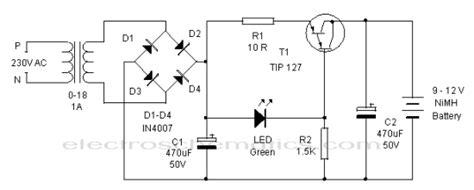 12v transformer junction nimh battery charger circuit