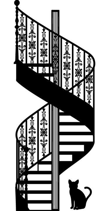 Autocollant mural escaliers romantiques - TenStickers