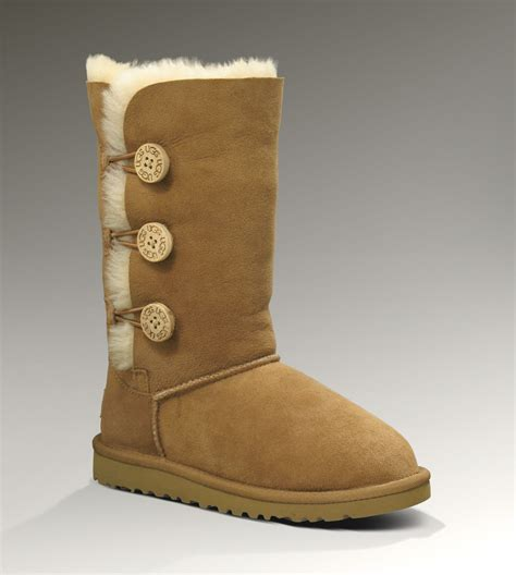 ugg boots sale size 7 ugg bailey button triplet 1962 chestnut boots ugg151012 077 95 00 uggs on sale ugg