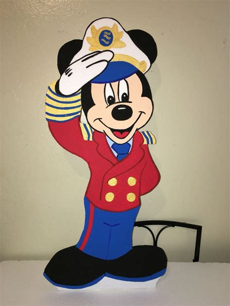 Mickey Mouse Sailor Captain Nautical Character … Pinteres…