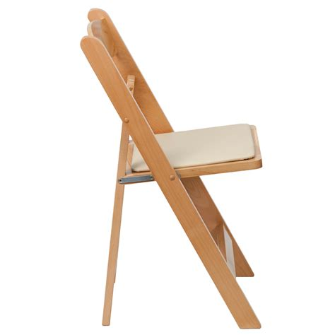 hercules commercial wood folding chair w padded