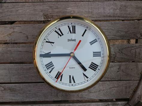 Stockburger Ship's Clock In Solid Brass Housing