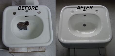 fix in porcelain sink countertop and tub re nu
