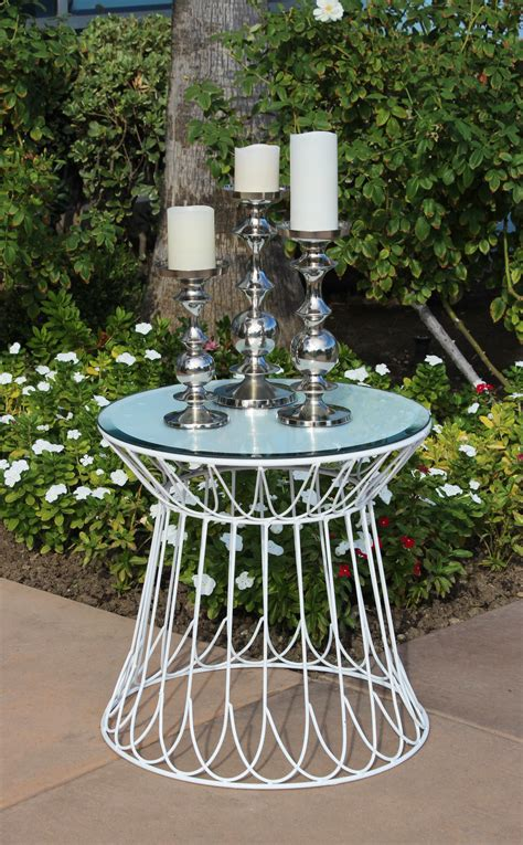 accent tables events inventory white lotus accent table town country event rentals