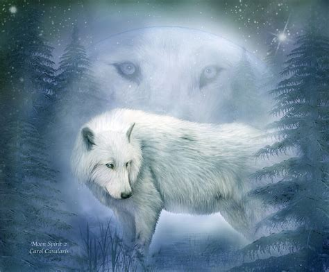 white wolf moon spirit   carol cavalaris redbubble