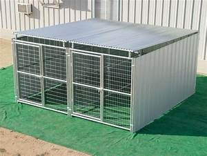 heavy duty outdoor enclosed dog kennel with roof shelter With multi run dog kennels