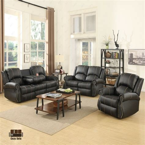 Living Room Sofas And Loveseats by Gold Thread Sofa Set Loveseat Recliner Leather