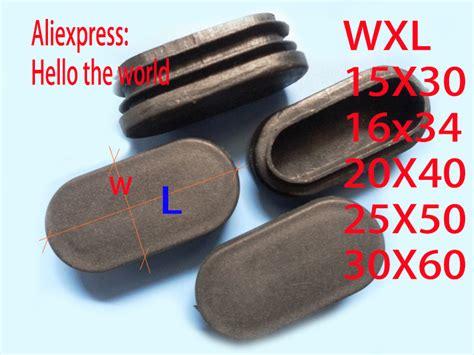 embout pied de chaise aliexpress com buy 15x30 16x34 20x40 25x50 30x60 oval