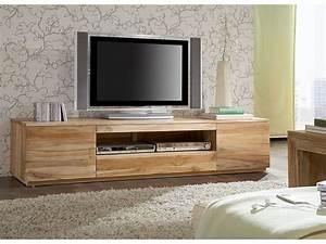 Banc Tv Suspendu : meuble tv bois id es de d coration int rieure french decor ~ Teatrodelosmanantiales.com Idées de Décoration