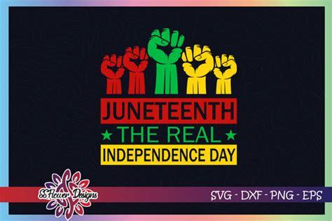 junetheen fist svg  real independence day svg black