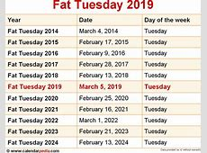 When is Fat Tuesday 2019 & 2020? Dates of Fat Tuesday
