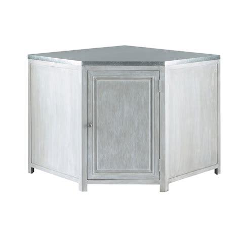 meuble d angle bas pour cuisine meuble bas d 39 angle de cuisine en bois d 39 acacia gris l 99 cm zinc maisons du monde