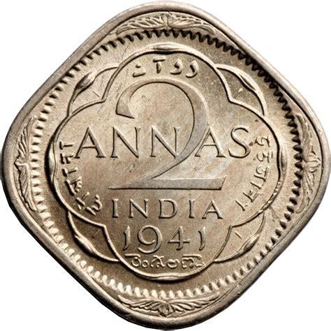 2 Annas - George VI - India - British - Numista