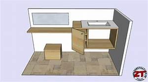 Meuble Sous Plan De Travail : tuto fabriquer un meuble vasque de salle de bain ~ Teatrodelosmanantiales.com Idées de Décoration