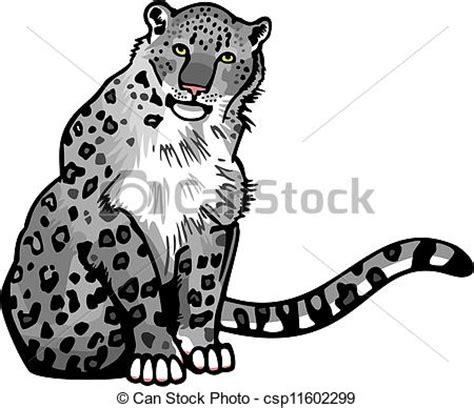 snow leopard vector illustration   snow leopard sitting