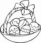Easter Egg Coloring Pages Basket Drawing Printable Bunny Clip Clipart April Preschool Thewaynestater Popular sketch template