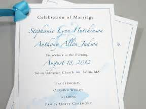 wedding program booklet wedding ceremony program one page custom by essentialimages