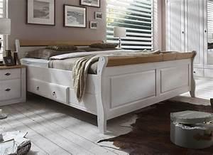 Doppelbett 200x200 Weiß : massivholz doppelbett mit schubladen 200x200 kiefer massiv wei gelaugt ~ Whattoseeinmadrid.com Haus und Dekorationen