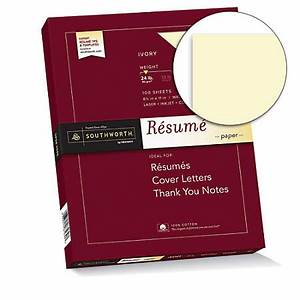 Office Depot Resume Printing Southworth 100percent Cotton 100percent Recycled R Sum