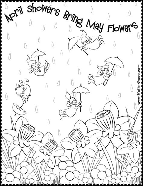 april showers coloring pages fairies flowers coloring page