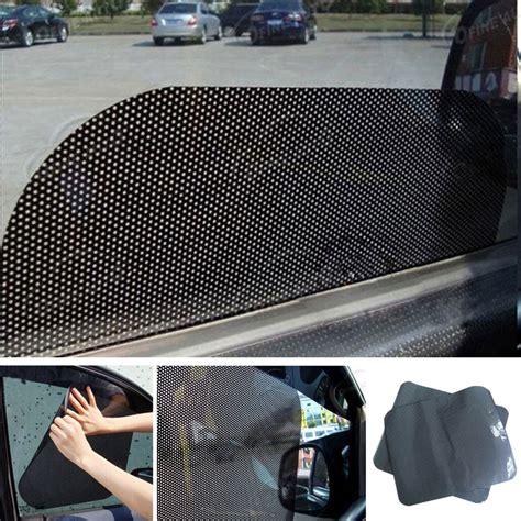 pcs car window side sun shade block static cling visor shield screen black window foils solar