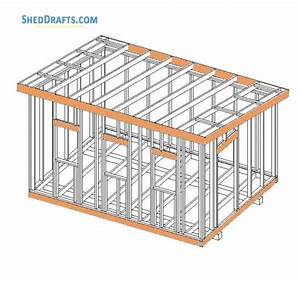 12 U00d716 Wooden Lean To Shed Plans Blueprints To Create