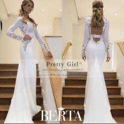 Slim Long Sleeve Lace Wedding Dress