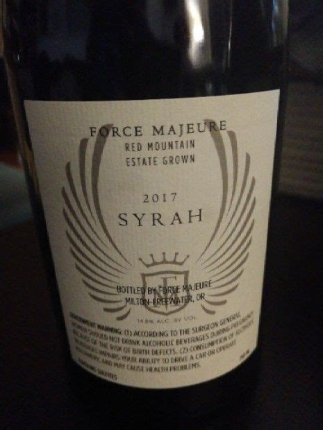majeure force syrah ct