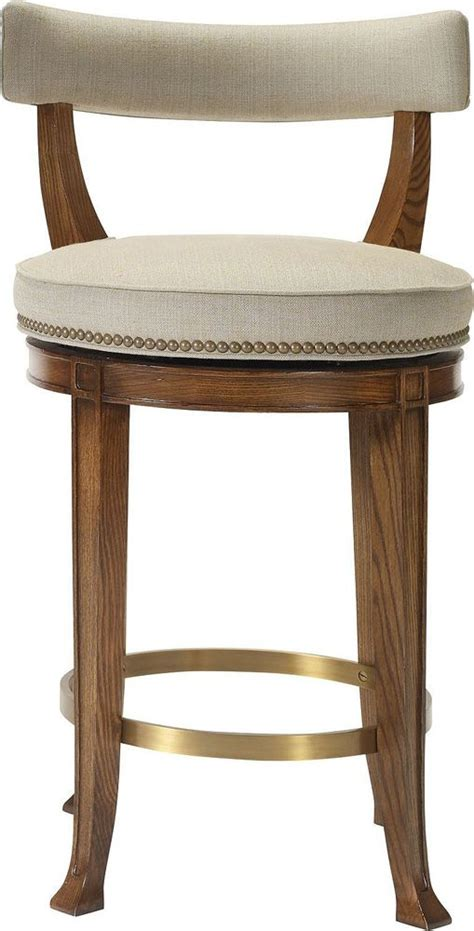 hickory chair  collection newbury swivel curved  counter stool  renovation