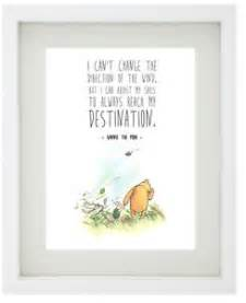 winnie the pooh famous disney quote framed print boy