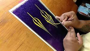 How To Pinstripe  Simple Pinstriping Design  4