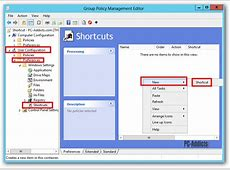 Server 2012 Deploy Desktop Shortcuts using Group Policy