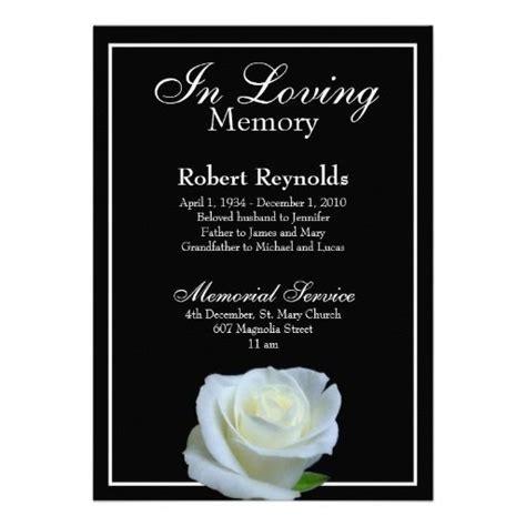 memorial announcement zazzlecom funeral invitation