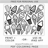 Ice Cream Coloring Printable Cones Sheets Designer Kindergarten Printables Icepack Template Splendi Inspirations Deportestcs sketch template