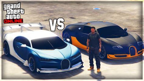 Bugatti Veyron Vs by Bugatti Chiron Vs Bugatti Veyron Gta 5