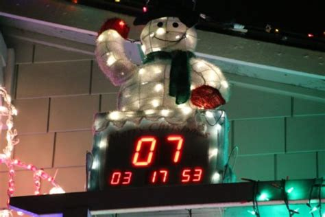 countdown to christmas snowman lighted digital clock yard decor west seattle west seattle holidays lights two wheelin santa