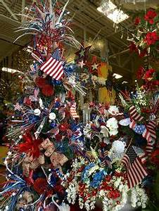 Patriotic 4th of July tree Why not