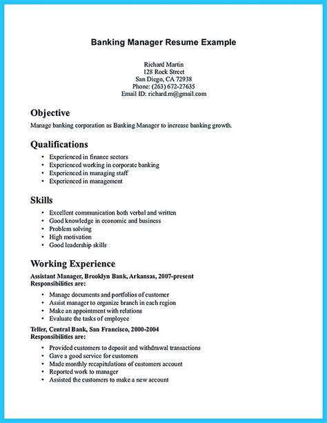 Resume Writing Business Software by Starting Successful Career From A Great Bank Manager