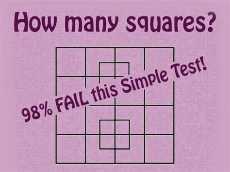 how many square in a square 98 of people fail to answer this one question can you playbuzz