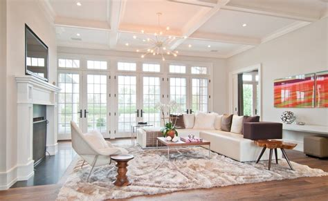 Living Room With Fireplace And Doors by Wall Of Doors Living Room Transitional With