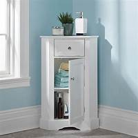 corner cabinet bathroom The Bathroom Corner Cabinet - Hammacher Schlemmer