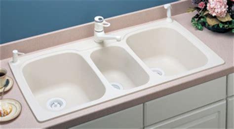 three bowl kitchen sink swanstone kstb 4422 037 bowl kitchen sink bone 6105
