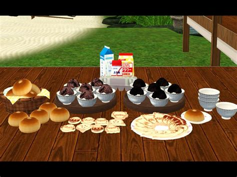 sims 3 cuisine noir and sims conversion decorative japanese food