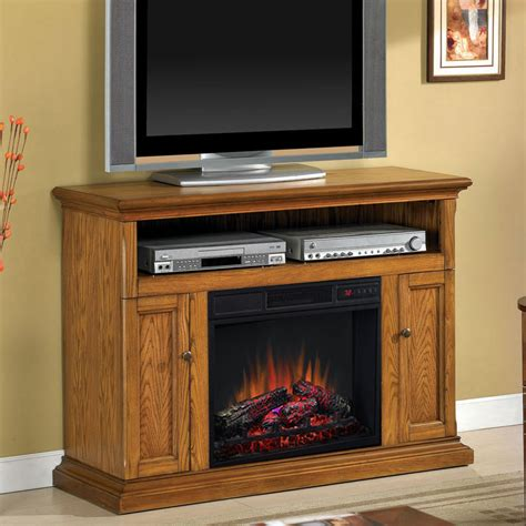 electric media fireplace cannes 23 quot antique oak media console electric fireplace